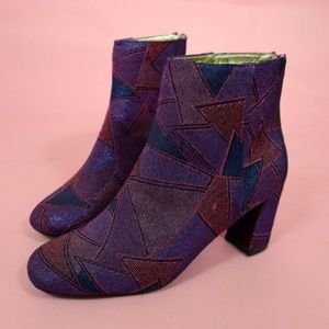 Size 11 Statement Colorful Sparkly Booties